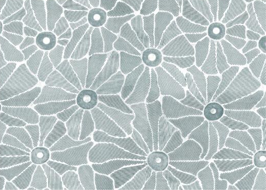 flower embossed aluminium metal